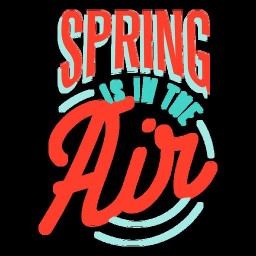 Primavera primavera está en la insignia de aire Transparent PNG