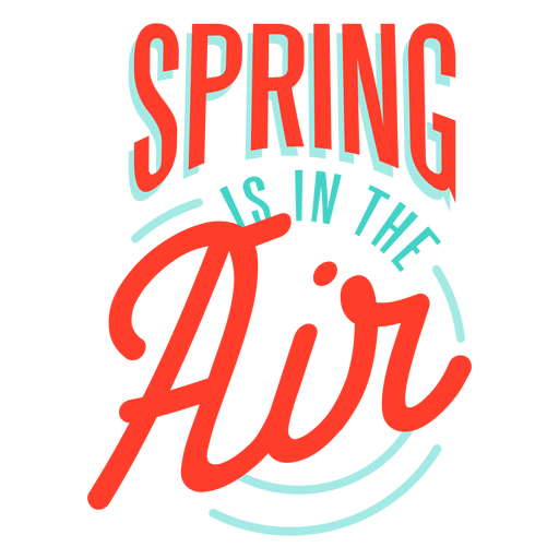 Spring spring is in the air badge Transparent PNG