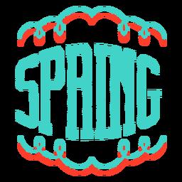 Insignia de etiqueta de viñeta de primavera