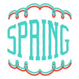Spring vignette sticker badge