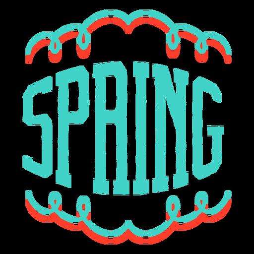 Emblema de etiqueta de vinheta de primavera Transparent PNG