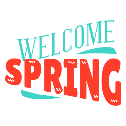 Spring welcome spring badge