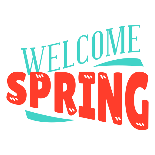 Spring welcome spring badge Transparent PNG