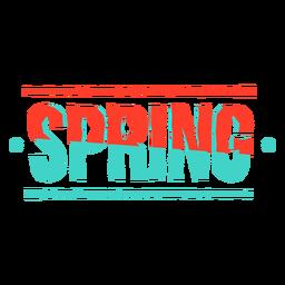 Etiqueta engomada de la primavera