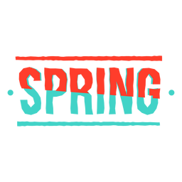 Sticker spring badge