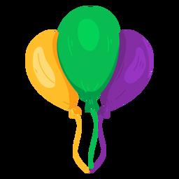 String balloon three flat