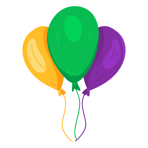 String balloon three flat Transparent PNG