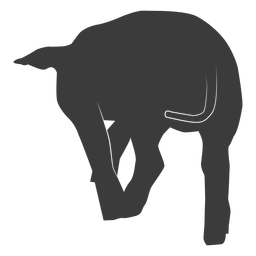 Silhueta de casco de orelha de porco de cauda