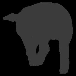 Silueta de pezuña de oreja de cerdo de cola