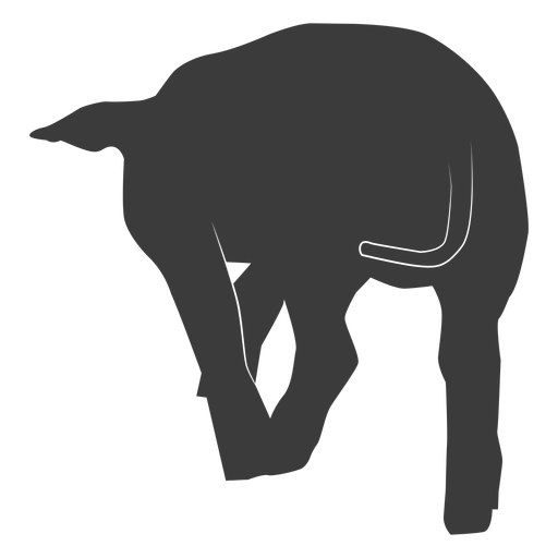 Tail pig ear hoof silhouette Transparent PNG