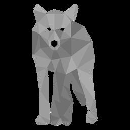 Lobo da cauda predador low poly