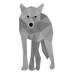 Tail wolf predator low poly