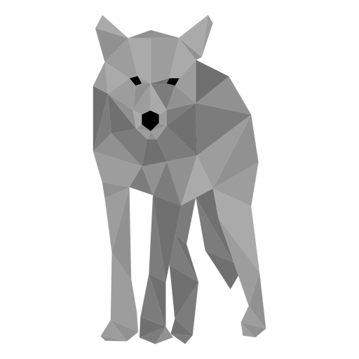 Lobo da cauda predador low poly Transparent PNG