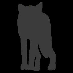 Silueta de depredador lobo cola