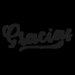 Vielen Dank, dass Sie Gracias Abzeichen Aufkleber