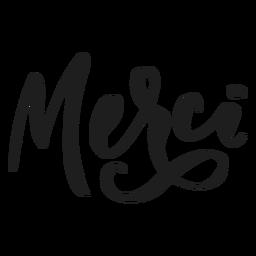 Obrigado etiqueta do emblema do merci