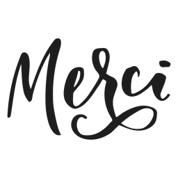 Thank you merci badge sticker