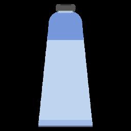 Tubo tapa pintura azul plana