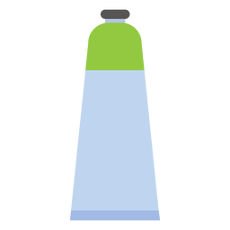 Pintura de tampa de tubo verde plana