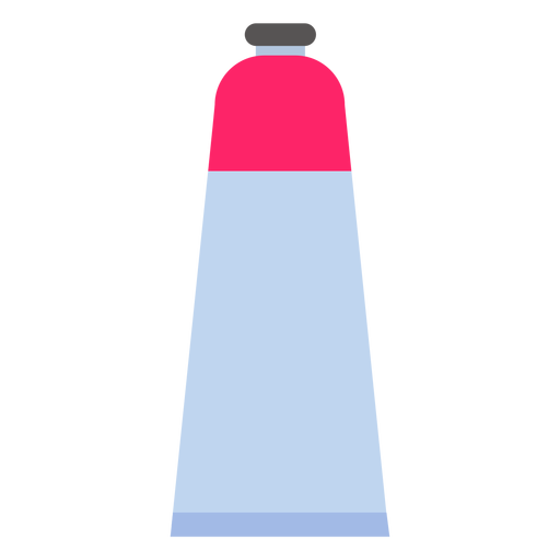 Tube cap paint red flat Transparent PNG