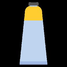 Tapa de tubo pintura amarilla plana