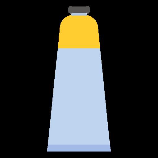 Tube cap paint yellow flat Transparent PNG