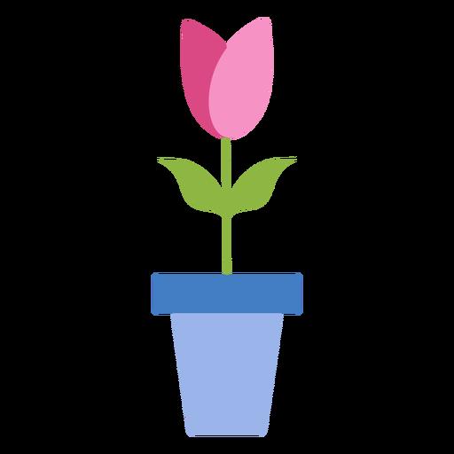 Pote de tulipa pétalo plana Transparent PNG
