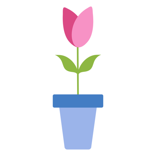 Tulip pot petal flat Transparent PNG