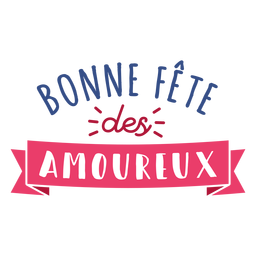 Valentine francês bonne fete des amoureux coração emblema adesivo