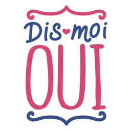 Valentine french dis moi oui heart badge sticker