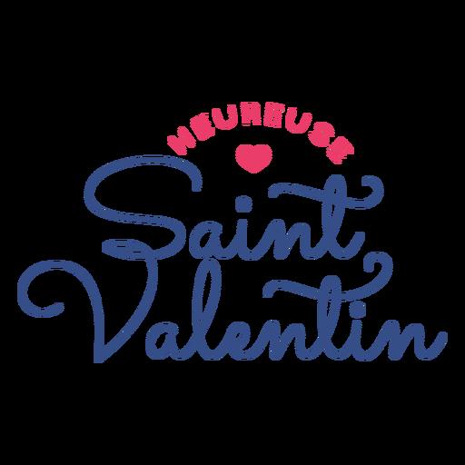 Autocolante de emblema de coração saint valentin heureuse francês dos namorados Transparent PNG