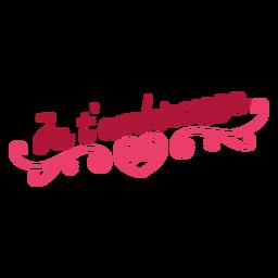 Etiqueta do emblema do coração do je t'embrasse do Valentim francês