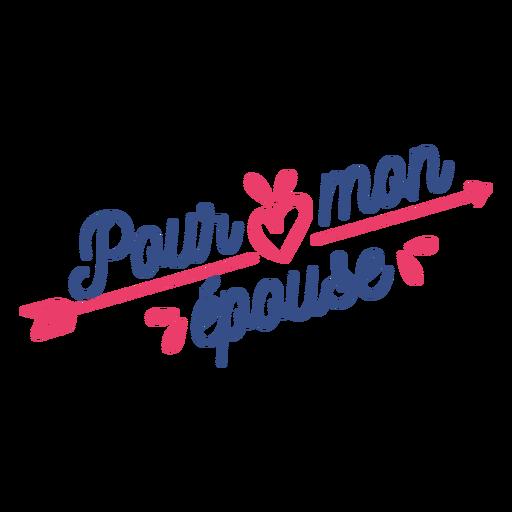 Os franceses do Valentim derramam a etiqueta do crachá do coração de epouse Transparent PNG
