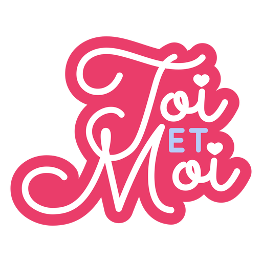 Valentine french toi et moi heart badge sticker Transparent PNG