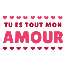 Etiqueta engomada de la insignia del corazón de San amour tout mon amour