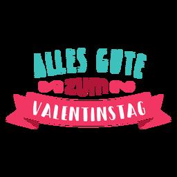 Etiqueta engomada de la insignia de Valentine alles gute zum valentinac