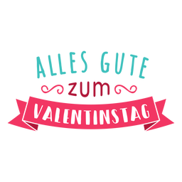 Valentine german alles gute zum valentinac badge sticker