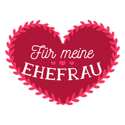 Valentine german fur meine ehefrau badge sticker