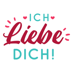 Valentine german ich liebe dich badge sticker