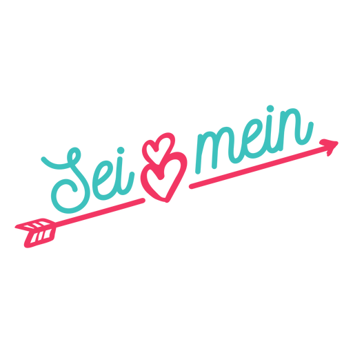 Valentine german lei mein badge sticker Transparent PNG