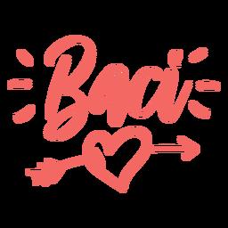Etiqueta engomada italiana de la insignia del baci