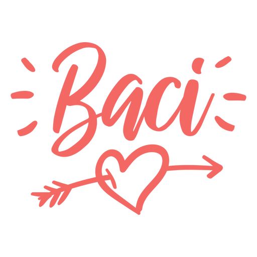 Valentine italian baci badge sticker Transparent PNG