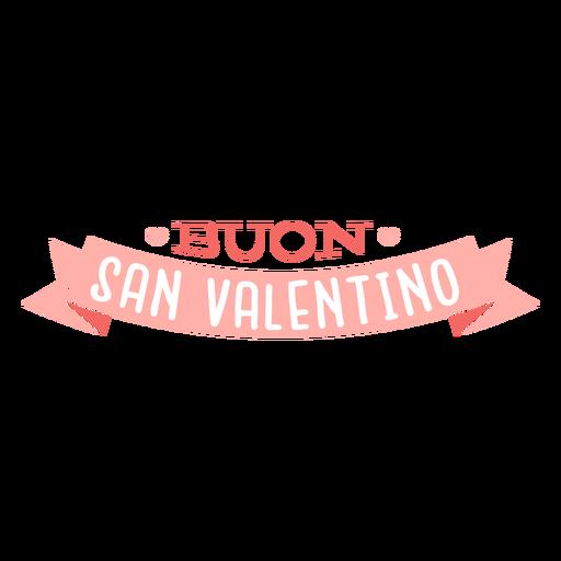 Etiqueta de distintivo de valentino buon san valentino italiano dos namorados Transparent PNG