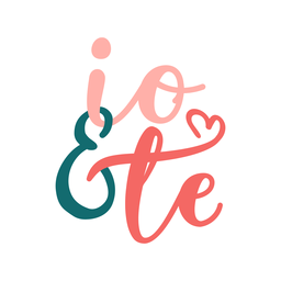 Valentine italian io & te badge sticker