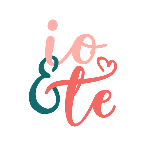 Etiqueta italiana do emblema do io & te do Valentim Transparent PNG