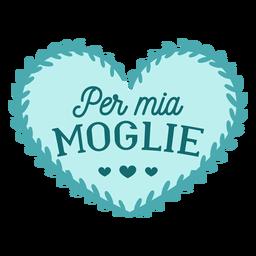 Etiqueta engomada italiana de la insignia de mito marito por mio