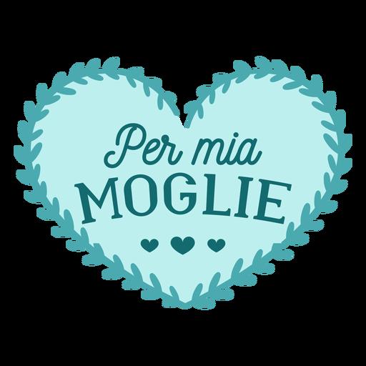 Valentine italian per mio marito badge sticker Transparent PNG