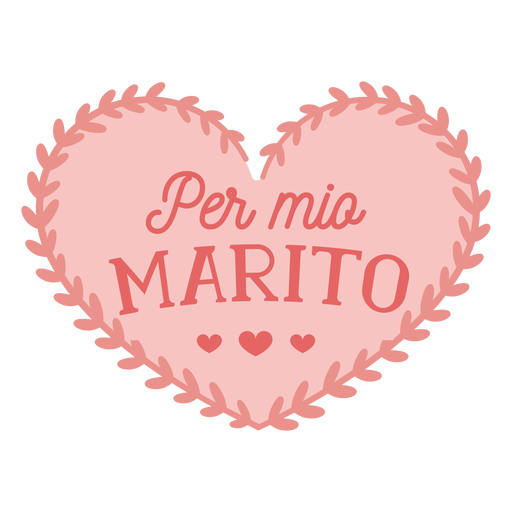 Valentim italiano por mio marito crachá adesivo valentines Transparent PNG