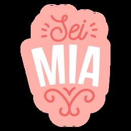 Etiqueta engomada italiana de la insignia de sei mia