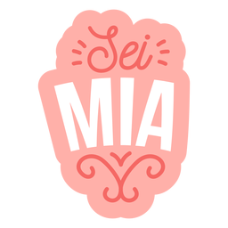 Valentine italian sei mia badge sticker